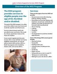 Overview of the IHSS Program