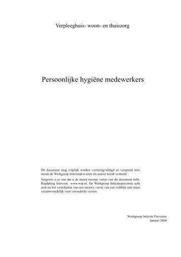 Persoonlijke hygiëne medewerkers - BTSG