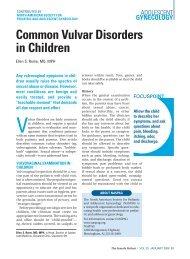 Common Vulvar Disorders in Children