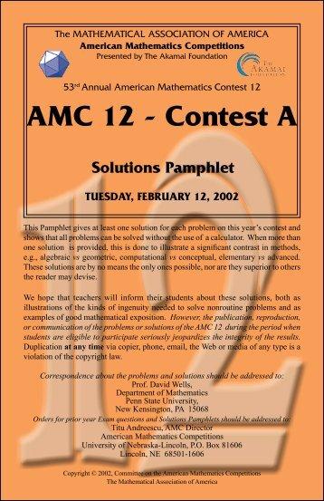 AMC 12 - Contest A