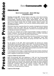 Press Release Press Release - Commonwealth Bank