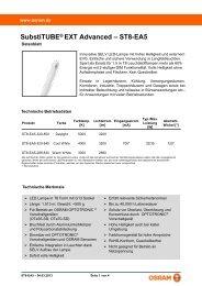 SubstiTUBE® EXT Advanced – ST8-EA5 - Osram