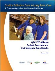 Environmental Scan Results - Quality Palliative Care in Long Term ...