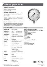 MVX8 Test gauges DN 160 - Baumer