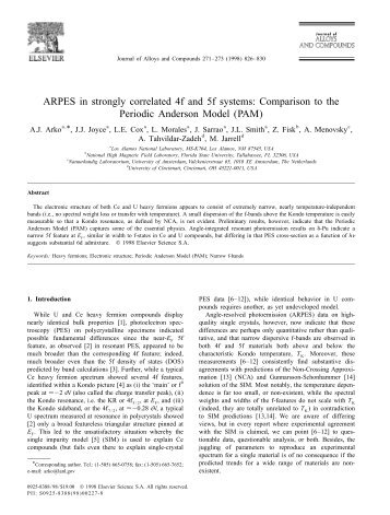 ARPES in strongly correlated 4f and 5f systems: Comparison to the ...