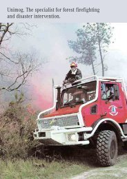 Unimog. The specialist for forest firefighting and disaster intervention.