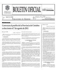 Convocan al pueblo de la Provincia de Córdoba a elecciones el 7 ...