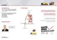 Umsetzung von innovativen Projekten 2011 Kurzinformationen