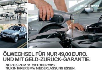 ÖlWechSel für nur 49,00 euro. und Mit Geld-zurück-Garantie. - BMW ...