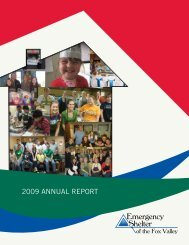 2009 ANNUAL REPORT - Emergency Shelter of the Fox Valley