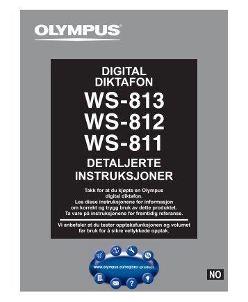 DETALJERTE INSTRUKSJONER DIGITAL DIKTAFON - Olympus
