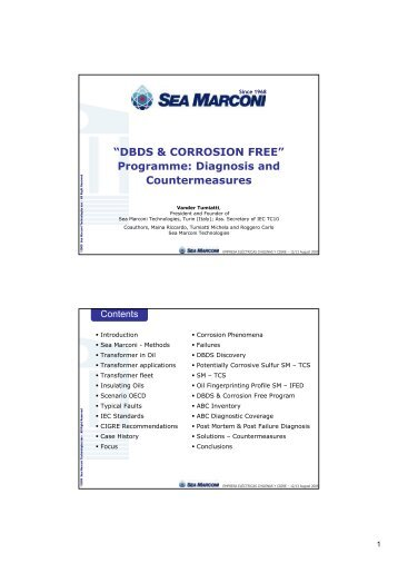 """""""DBDS & CORROSION FREE"""" Programme: Diagnosis and ... - Cigré"""