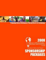 2008 Sponsorship Packages - Engineers Without Borders ...