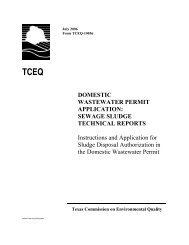 DOMESTIC WASTEWATER PERMIT ... - TCEQ e-Services