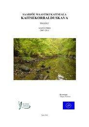 saarjõe maastikukaitseala kaitsekorralduskava - Keskkonnaamet