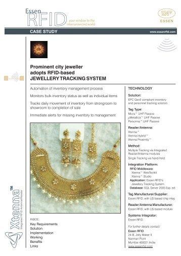 Prominent city jeweller adopts RFID-based JEWELLERY ...