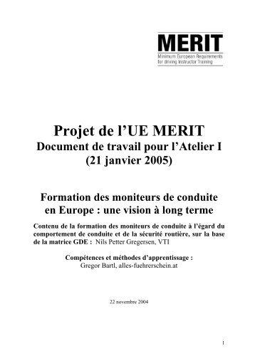 Projet de l'UE MERIT - Cieca
