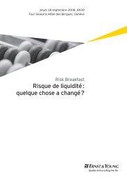 Risk Breakfast – Risque de liquidité: quelque chose a changé?