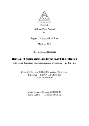 Removal of pharmaceuticals during river bank filtration - LEESU