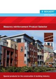 Masonry Reinforcement Product Selector - Bekaert