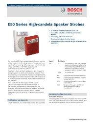 E50 Series High‑candela Speaker Strobes - Bosch Security Systems