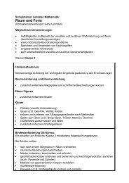 Raum und Form Klasse.. - Schule am Silberbach