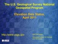 Elevation Data Status, April 2011 - Flood Risk Management Program