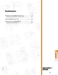 Sectionneurs - Sprecher + Schuh