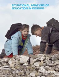SITUATIONAL ANALYSIS OF EDUCATION IN KOSOVO - Unicef