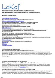 Newsletter Nr. 04/2008 - LaKof NRW