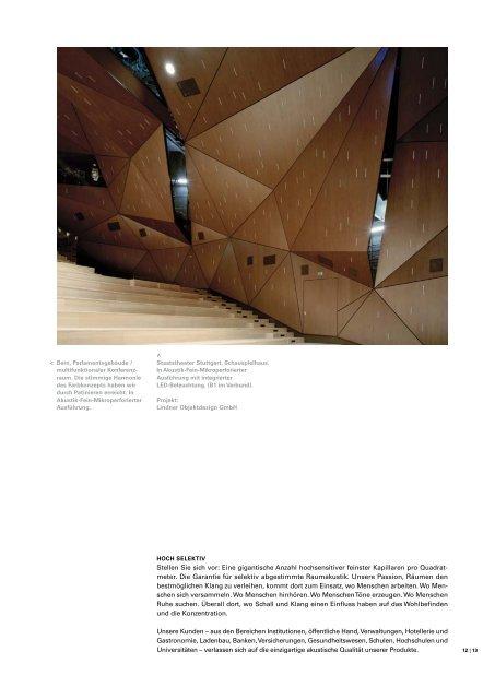Feinmikro Perforation - Akustik & Raum