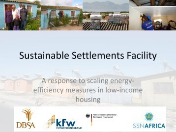 Sustainable Settlements Facility