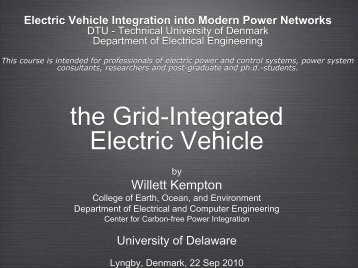 Electric Vehicle Integration into Modern Power Networks - Nuvve