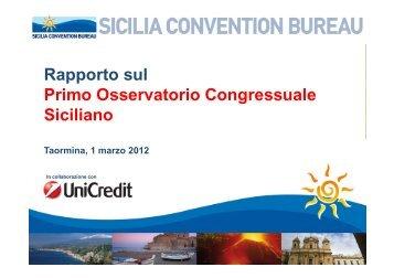 Osservatorio Congressuale Siciliano 2011 - Event Report