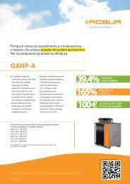 PRO Linea GAHP Serie A - Certificazione energetica edifici