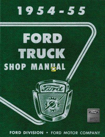 DEMO - 1954-55 Ford Truck Shop Manual - ForelPublishing.com