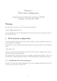 Exercise 1 IPv6 router configuration