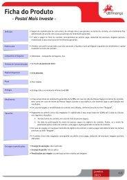 Ficha do Produto - Postal Mais Investe - CTT
