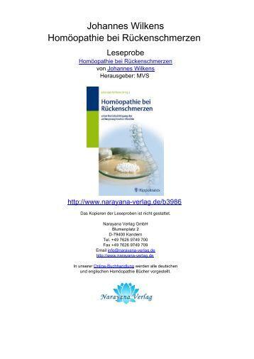 Johannes Wilkens Homöopathie bei Rückenschmerzen