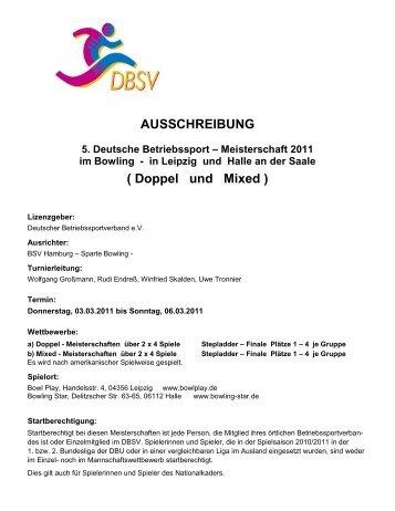 AUSSCHREIBUNG ( Doppel und Mixed ) - bowling.bsv-hanau.de