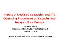 Impact of Declared Capacities and ATC Operating ... - nextor ii