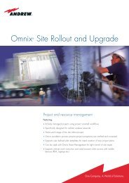 Omnix® Site Rollout and Upgrade - AVW