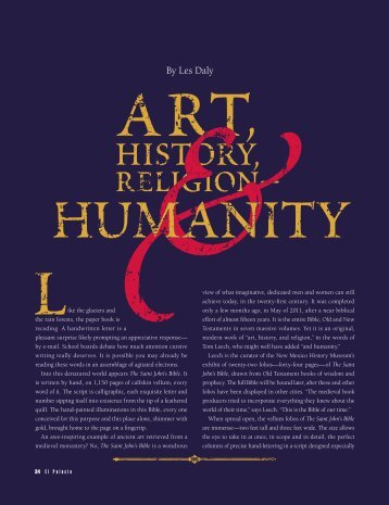 Art, History, Religion and Humanity - El Palacio Magazine