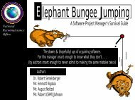 Elephant Bungee Jumping - USC Center for Systems and Software ...