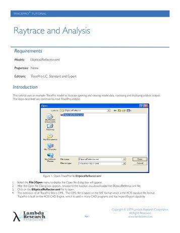 Raytrace and Analysis - Qioptiq Q-Shop