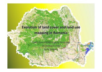 Evolution of land cover and land use mapping in Romania