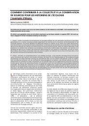 Comment contribuer à la collecte et à la conservation de ... - ABD-BVD
