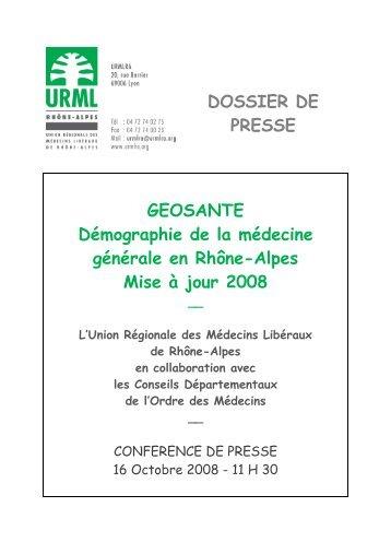 Géosanté - L'Union Régionale des Professionnels de santé ...