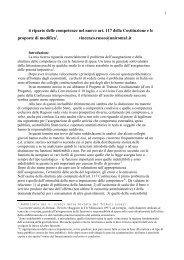 Il riparto delle competenze nel nuovo art. 117 della ... - Dipecodir.it