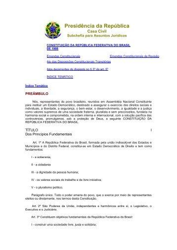 Constituição da República Federativa do Brasil de 1988 - Compilado